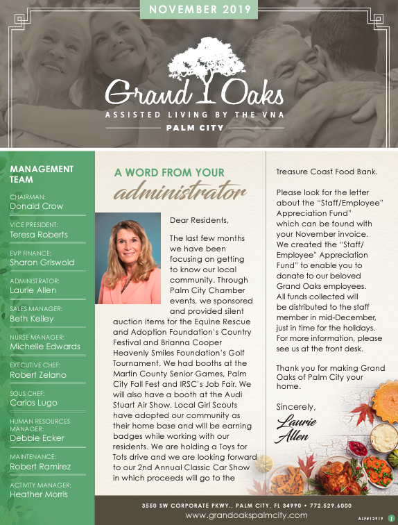 Grand Oaks Palm City Newsletter