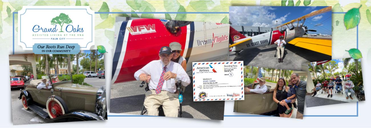 Grand Oaks of Palm City WWII Veteran Receives Dream Flight