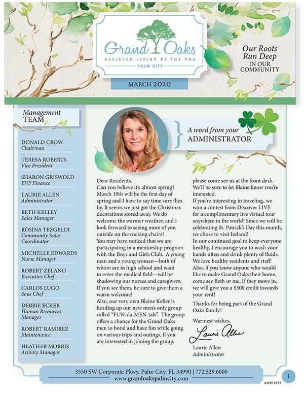 Grand Oaks Palm City Newsletter